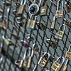 Padlocks - signs of love and affection on a bridge in Paris, France