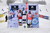 USANA U.S. Freestyle Championships dual moguls women's podium: 1. Eliza Outtrim, 2. Sophia Schwartz and 3. Elizabeth O'Connell<br /> <br /> Photo: Riley Steinmetz/U.S. Ski Team