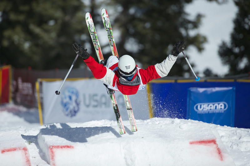 Moguls competition at the 2014 USANA U.S. Freestyle National Championships at Deer Valley, UT.<br /> Photo © Kirk Paulsen