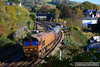 66187 heads west through Totnes on the: 3J14 08:32 St Blazey to Par via Newton Abbot 03/11/13  The train is an unusual maneuver, it washed platform 1, then reversed into the centre road to allow 2C45 to overtake