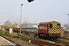 "08879 shunting in Didcot Yard<br /> 30/04/14<br /> <br /> Watch the video at: <a href=""http://youtu.be/eGNnUdz8RZM"">http://youtu.be/eGNnUdz8RZM</a>"