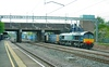 66424 heads south through Tamworth on the:<br /> 4M44 08:50 Mossend to Daventry<br /> <br /> 22/04/09