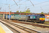 66428 heads south through Warrington Bank Quay working the: 4M44 08:47 Mossend to Daventry  06/05/13