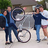 All of us with Foad's bike