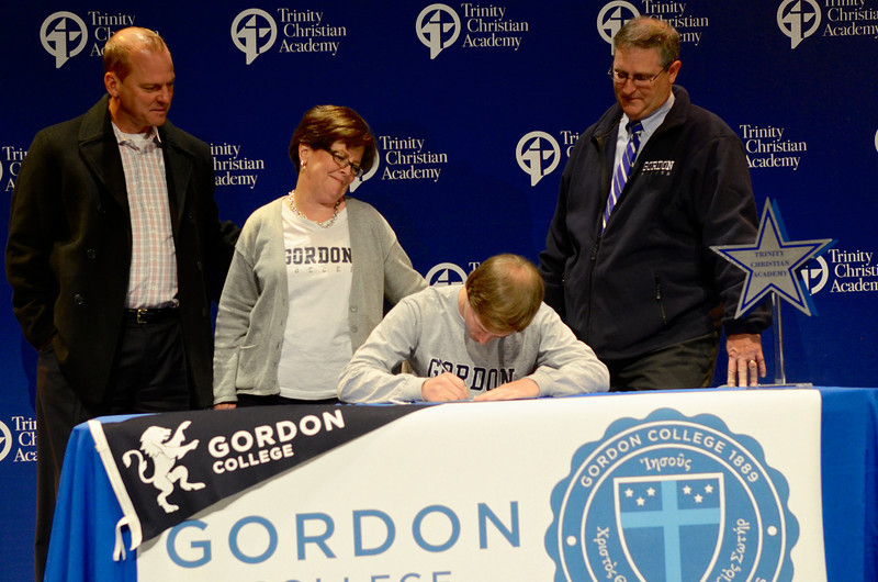 2014 Blake SIGNING to play Soccer for Gordon College in Boston