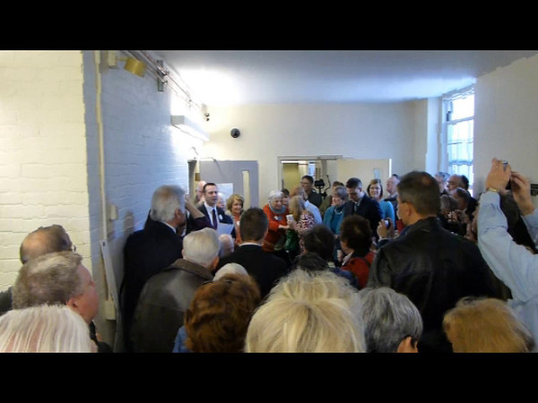 Dedication of Denis Ready Selectmans Room, Town Offices