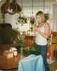 Linda Summers in living room of mom and dad's home in Albion, NE1983?