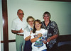 Paul, Liz Hunt, - Judy Warner.  Boone County award in dad's name.  August, .  Taken at Boone county fair grounds.