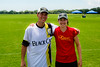 Steve and Megan at the fields - 2014-07-18