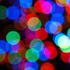 Colroful out of focus christmas lights