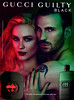 GUCCI Guilty Black 2013 Spain 'The new fragrances for him and her' (handbag size format)