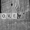 LOVE with scrabble tiles
