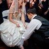 Groom goes for garter