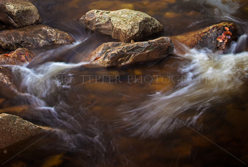 Rocks, streaming water after heavy rain on Mt. Tabor, Vermont Fall, 2012