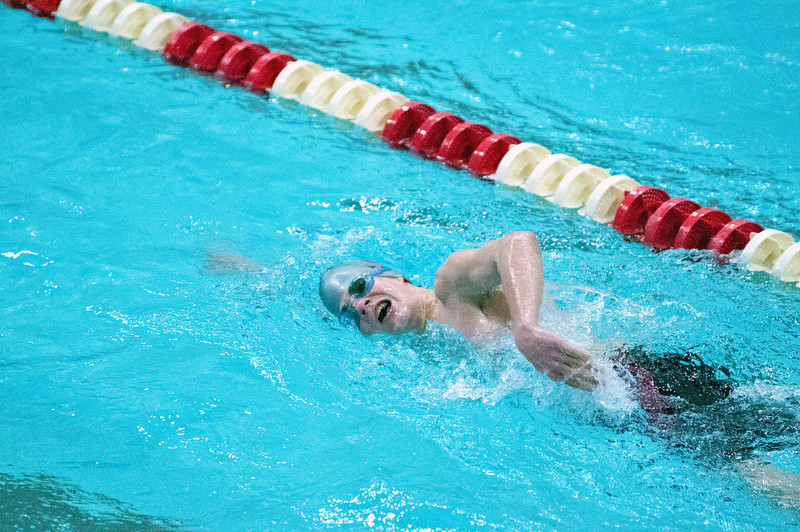 Photo by, Franklin Brown<br /> Boys Swimming PVC Championship<br /> Hosted at Husson University<br /> February 7, 2014