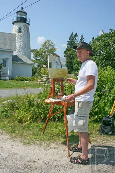 CP Castine Plein Air Fest Lighthouse 1 AB 073114