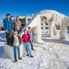 "Engineering students pose by the 2014 ice arch they designed and built on the Fairbanks campus -- a tradition dating back to the 1950s. From left to right are Daniel Hjortstorp,  Tux Seims, Vincent Valenti, Andy Chamberlain, Richard ""Buzz"" Ward and James ""Tripp"" Collier.  Filename: AAR-14-4093-29.jpg"