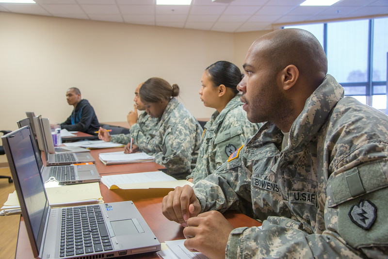"Soldiers stationed at Fort Wainwright have access to college classes through the Education Center on base.  <div class=""ss-paypal-button"">Filename: AAR-14-4135-70.jpg</div><div class=""ss-paypal-button-end""></div>"