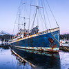 An old merchant vessel at its mooring in Auke Bay near Juneau.  Filename: AKA-14-4059-290.jpg