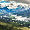 "This photo looks south down the Deitrich River valley as it parallels the Dalton Highway and Trans-Alaska Pipeline through the southern Brooks Range.  <div class=""ss-paypal-button"">Filename: AKA-14-4219-025.jpg</div><div class=""ss-paypal-button-end""></div>"