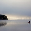 Canoers at Dawn, Lake of Two Rivers