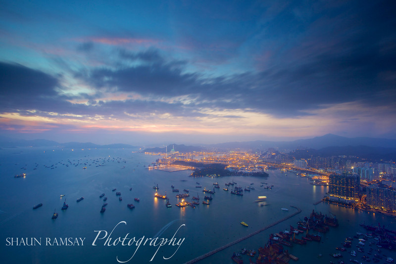 Victoria Harbour Sunset, Hong Kong