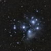 M45 - The Pleiades<br /> <br /> Date: 11/28/11<br /> <br /> This is a combination of 2 night of data.<br /> RGB - 10 x 1min each<br /> LRGB - 5 x 5 minutes each <br /> Calibration 20,20,20<br /> <br /> Telescope: Takahashi FSQ-106ED with CAA<br /> Mount: Astro-Physics Mach1GTO<br /> Guider: Meade DSI Pro through Astrodon MMOAG, with 2 Px dither<br /> CCD: Finger Lakes Instruments ML11002 CCD, with 65mm shutter<br /> Fiter Wheel: Finger Lakes Instruments CFW-2-7<br /> Filters: Baader 50.8mm LRGB<br /> <br /> Software: MaximDL, Registar, Photoshop CS3 with Carboni & GXT<br /> Location: Light polluted back yard in El Paso, Texas<br /> <br /> Polar Alignment: PoleAlignMax