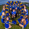 UAF cheerleaders pose in front of the SRC on the Fairbanks campus.  Filename: ATH-13-3943-145.jpg
