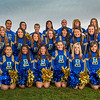 UAF cheerleaders pose in front of the SRC on the Fairbanks campus.  Filename: ATH-13-3943-7.jpg