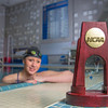 UAF's Bente Heller claimed the first national championship in the program's history, claiming the title in the women's 100 meter backstroke at the NCAA Div II championships in Birmingham, AL.  Filename: ATH-13-3758-60.jpg