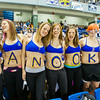 "Members of the Alaska Nanooks  Women's Swim Team support their fellow student athletes at a hockey tournament during the 2014 Governors Cup  game against UAF and UAA at the Carlson Center.  <div class=""ss-paypal-button"">Filename: ATH-14-4105-49.jpg</div><div class=""ss-paypal-button-end""></div>"