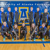 The 2013-14 Nanook rifle team poses for a group photo in the Patty Gym.  Filename: ATH-14-4091-14.jpg