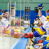 "Sporting a hockey jersey complete with gloves, Dylan Hyland roots for the Alaska Nanooks during the 2014 Governor's Cup tournament against University of Alaska Fairbanks.  <div class=""ss-paypal-button"">Filename: ATH-14-4105-90.jpg</div><div class=""ss-paypal-button-end""></div>"