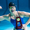 UAF's Bente Heller claimed the first national championship in the program's history, claiming the title in the women's 100 meter backstroke at the NCAA Div II championships in Birmingham, AL.  Filename: ATH-13-3758-17.jpg