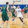 Junior point guard Joe Slocum leads a fast break llate in the Nanooks' game against the UAA Seawolves in the Patty Gym. Slocum helped lead the Nanooks from a 13-point second-half deficit and later scored at the buzzer to provide the final margin in their two-point victory.  Filename: ATH-14-4097-26.jpg