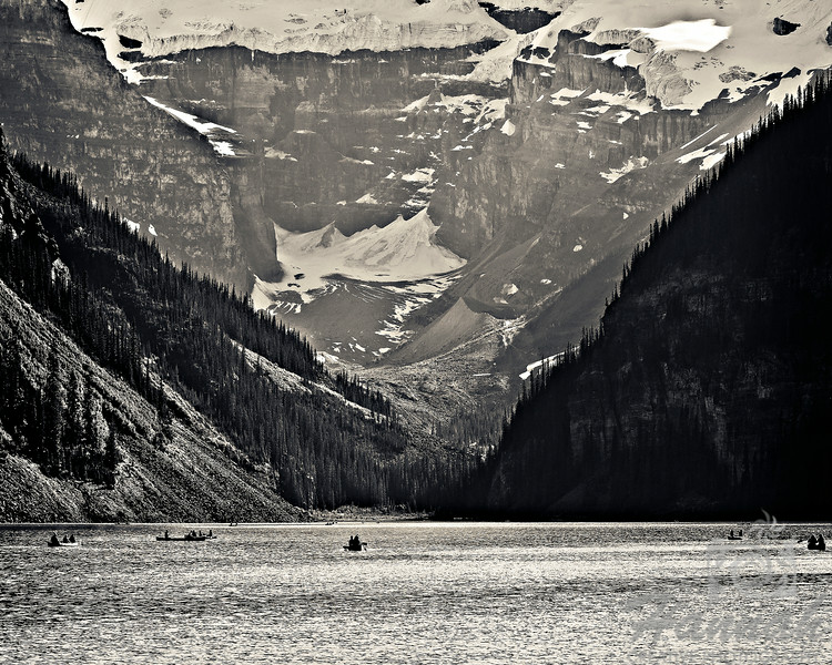 2nd PLACE RED RIBBON, Washington County Fair Photography Exhibition 2014<br /> <br /> Class:  Black and White<br /> Lot:  Landscape<br /> Description:  Banff Lake Louise at Banff National Park in Alberta, Canada<br /> <br /> © Copyright Hannah Pastrana Prieto