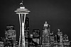 1st PLACE BLUE RIBBON, Washington County Fair Photography Exhibition 2013<br /> <br /> Class: Black & White<br /> Lot:  Barns, bridges, buildings or other structures<br /> Description:  Skyline of the Space Needle in Seattle, Washington<br /> <br /> © Copyright Hannah Pastrana Prieto