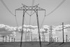 High tension towers