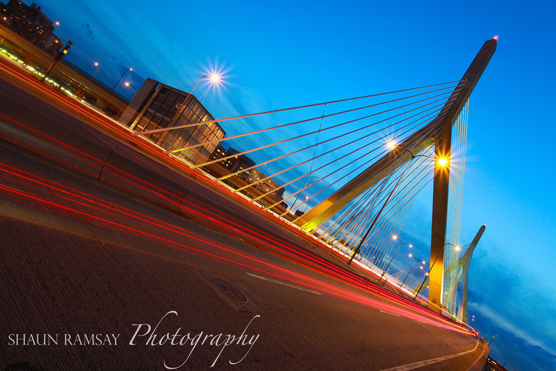 Zakim Bridge Light Trails