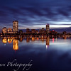 Boston Reflected in December Twilight
