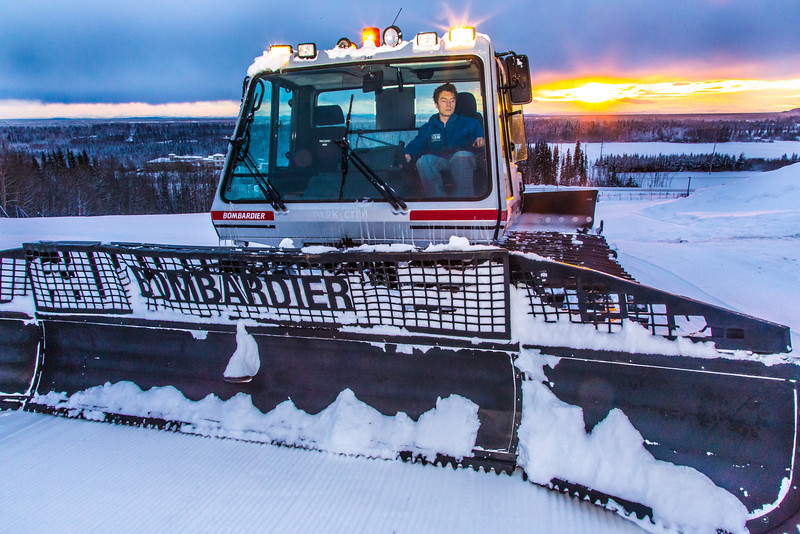 "Erik Ofelt operates the newly donated snow groomer he'll use to keep UAF's terrain park in good condition during the winter months.  <div class=""ss-paypal-button"">Filename: CAM-14-4030-54.jpg</div><div class=""ss-paypal-button-end"" style=""""></div>"