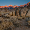 Sunrise at Alabama Hills<br /> Lone Pine CA<br /> Sep 2009