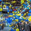 Hundreds of blue and gold balloons fall from the rafters marking the end of the ceremony.  Filename: GRA-12-3410-0935.jpg