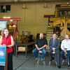 CTC Executive Dean Michelle Stalder speaks to the audience at an event celebrating the D10 Dozer donation from Kinross Fort Knox to the Diesel Heavy Equipment Technology program.  Filename: DEV-13-3906-99.jpg