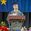 Three-time Olympic medalist Matt Emmons, a member of UAF's four-time NCAA championship rifle teams from 1999 – 2003, delivered the commencement address.  Filename: GRA-13-3827-0349.jpg