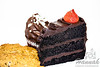 Cookies, cupcake and a slice of chocolate cake<br /> <br /> © Copyright Hannah Pastrana Prieto
