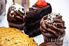 Cookies, cupcakes and a slice of chocolate cake<br /> <br /> © Copyright Hannah Pastrana Prieto