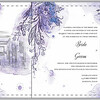 Custom designed wedding invitation