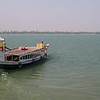A small tourist boat for traveling between islands near calcutta.