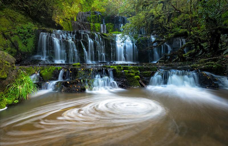 Purakaunui Falls, Catlins, South Island, New Zealand